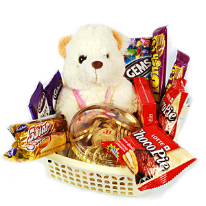 Teddy urso with gift pack