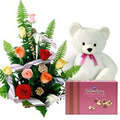 Teddy bear with gift pack - stuffed-animals photo