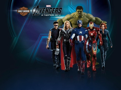 The Avengers Harley Davidson Wallpaper