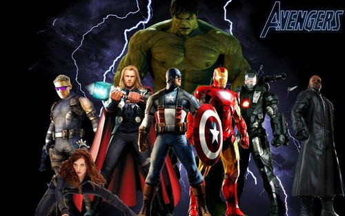 The Avengers wallpaper probably with a breastplate and a tabard entitled The Avengers