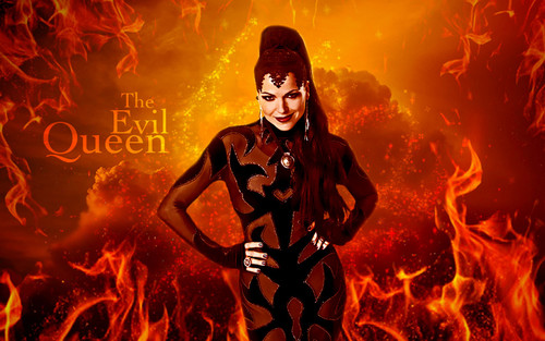 Once Upon A Time wallpaper probably containing a fire and a fire entitled The Evil Queen
