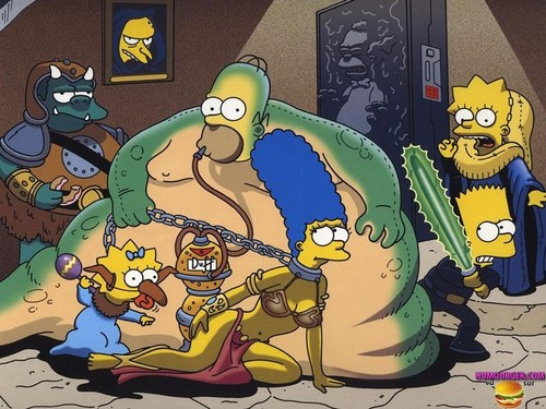 The Simpsons in ngôi sao Wars