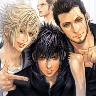 Final Fantasy Versus XIII wallpaper containing a portrait entitled The guys