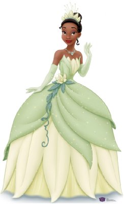 Tiana in Green Dress