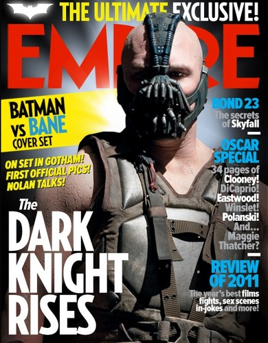 Tom Hardy as Bane on the Cover of Empire Magazine