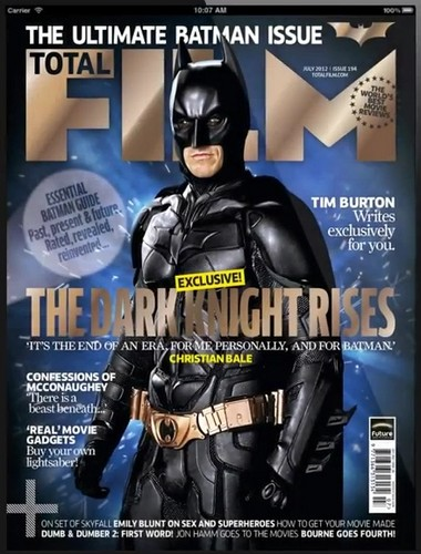 The Dark Knight Rises wallpaper containing anime entitled Total Film Cover