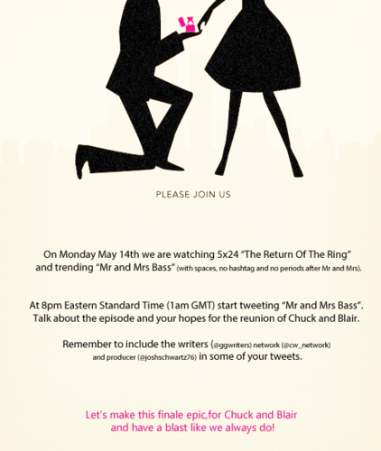 Twitter campaign - blair-and-chuck Fan Art