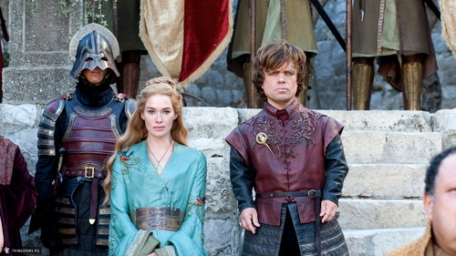 Tyrion Lannister wallpaper with a surcoat called Cersei & Tyrion Lannister