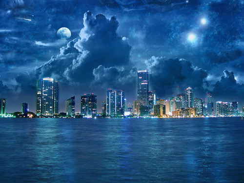 Under the night sky...