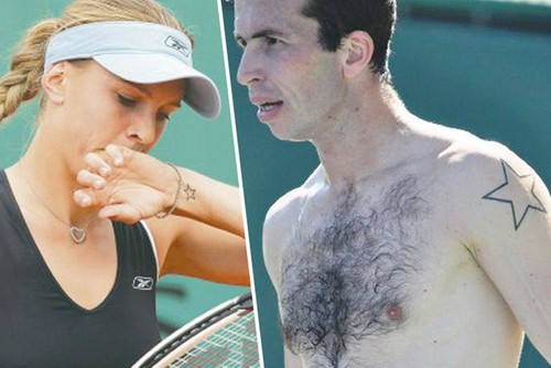 Vaidisova and Stepanek have same tattoo : stars