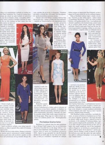 Victoria Beckham: Gloria magazine (Croatia)