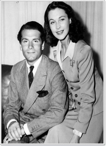 Vivien Leigh wallpaper with a business suit and a suit titled Vivien e Laurence