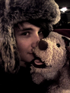 danisnotonfire wallpaper containing a fur coat entitled W/ hat
