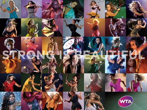 WTA Players in Strong Is Beautiful