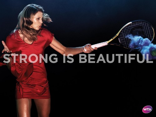 WTA wallpaper containing a tennis racket and a tennis player titled Lucie Šafářová in Strong Is Beautiful