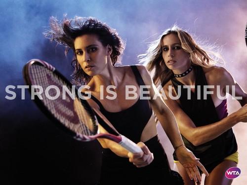 Flavia Pennetta & Gisela Dulko in Strong Is Beautiful