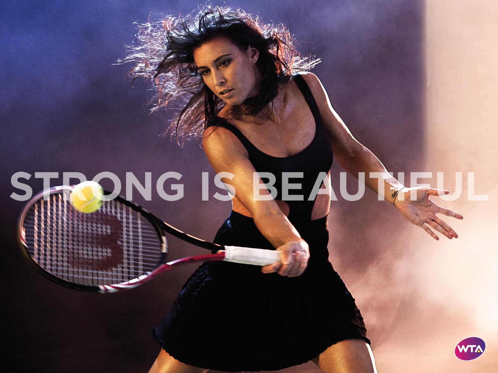 Douglas Dick Wallpapers Flavia Pennetta in Strong Is Beautiful WTA Wallpaper