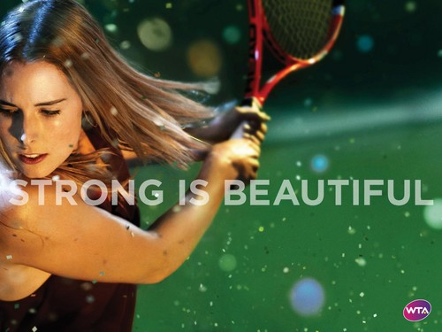 Alizé Cornet in Strong Is Beautiful