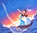 Walt ディズニー Mobile 壁紙 - Aladdin, Princess ジャスミン & Carpet