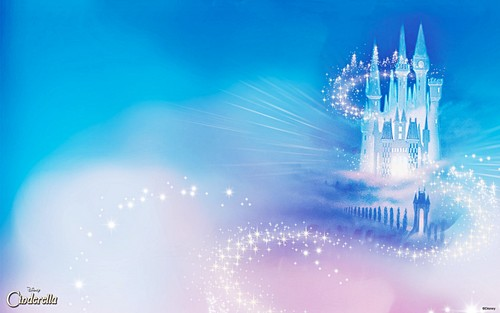 Walt Disney Characters wallpaper containing a fountain titled Walt Disney Wallpapers - Cinderella