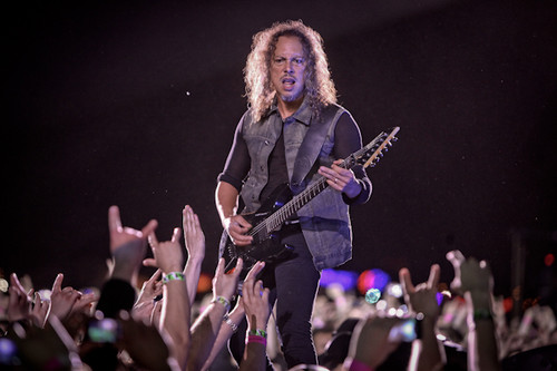 Metallica wallpaper with a concert and a guitarist titled Warsaw, Poland 05/10/12