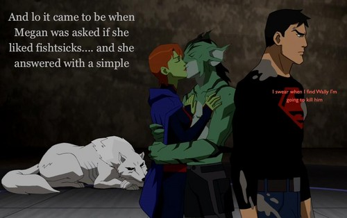 What happened to Superboy Megan and Wally - young-justice Photo