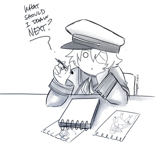 What should Oliver draw? - vocaloid-rp Photo