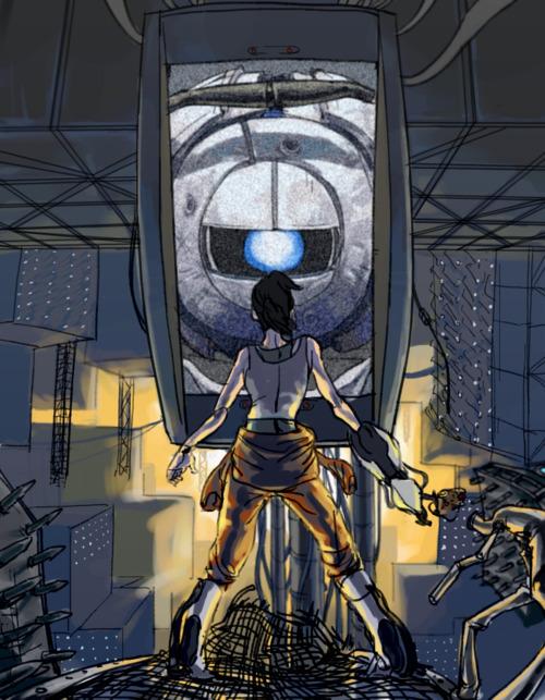 Wheatley Science Portal 2 Fan Art 30731996 Fanpop