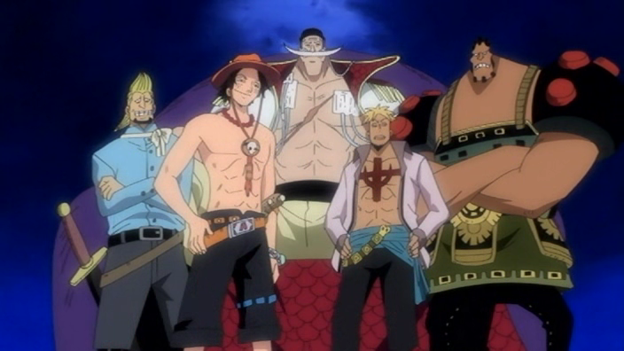 Whitebeard and the 上, ページのトップへ 4 of his crew