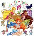 Winx club with the Pixies