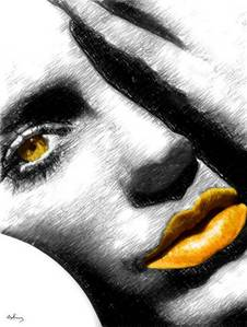 Yellow Lips - colors Photo