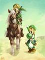 Yoshi and Link