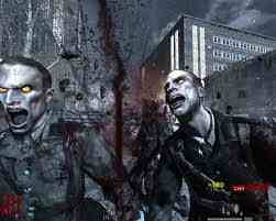 Zombies wallpaper containing a breastplate and a rifleman titled Zombies