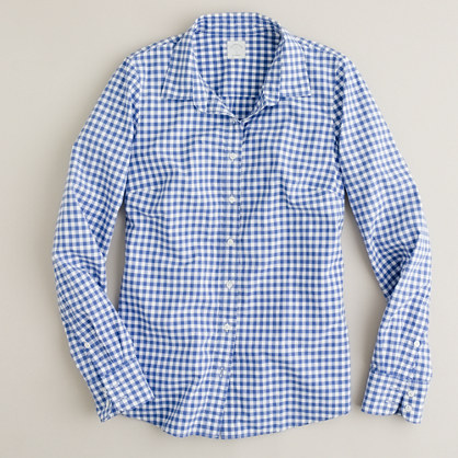 blue gingham baju