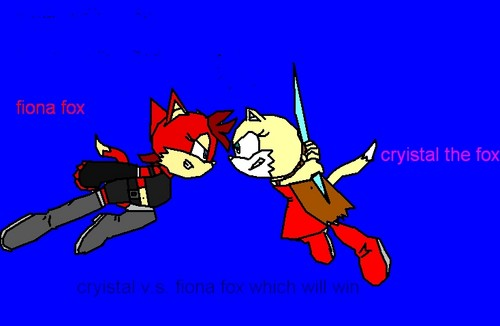 cryistal the fox v.s. fiona fox - sonic-fan-characters-recolors-are-allowed Photo