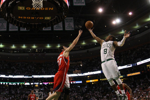 game 3 win in overtime - rajon-rondo Photo