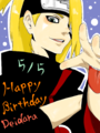 happy birthday, deidara !! - deidara fan art