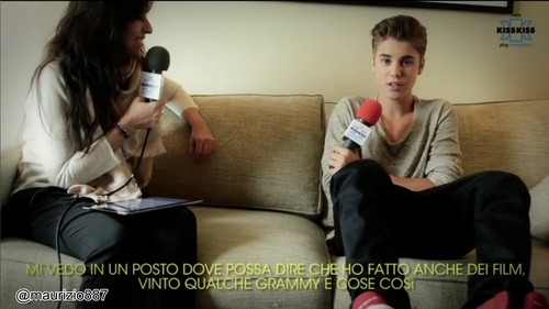 justin bieber, RADIO KISS;KISS; ITALY