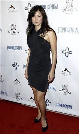 Kelly Hu fondo de pantalla possibly with a cóctel, coctel dress, a leotard, and a chemise called kelly hu