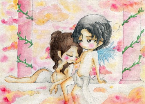 Michael Jackson and Lisa Marie wallpaper titled Amore