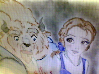 Beauty and the Beast wallpaper titled love_belle_&_beast