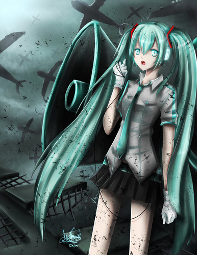 miku-love is war - vocaloids Photo