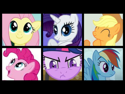 my ponys in order of fav to not fav!