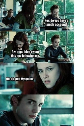 Harry Potter Vs. Twilight wallpaper with a portrait called myspace v/s tumblr
