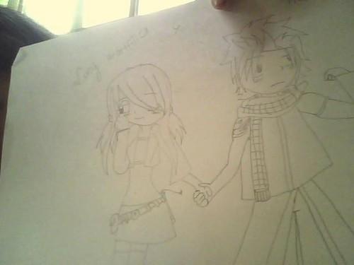 natsu x lucy hold hands