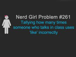 nerd girl/boy problems