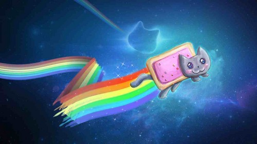 Nyan Cat Hintergrund entitled nyan power