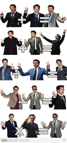 Robert Downey Jr is doing maths
