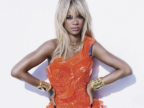 rihanna elle orange dress - rihanna Wallpaper