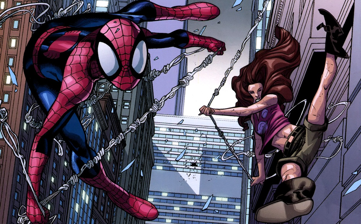 spider women spider-woman and spider-manUltimate Spiderman And Spiderwoman